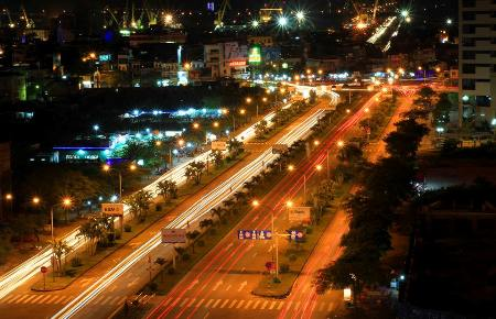 Haiphong at night