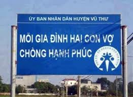 Population control slogan