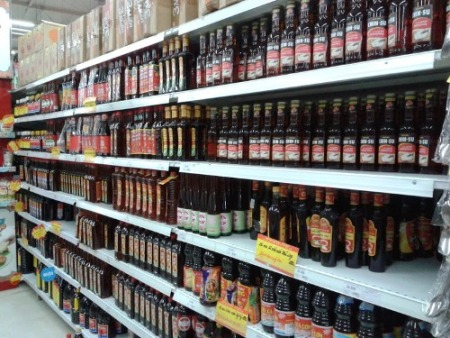 Vietnamese fish sauce in supermarket