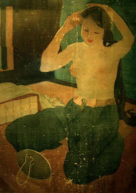 Vietnamese silk painting